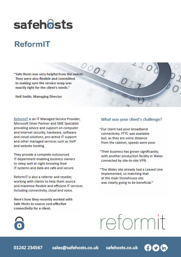 ReformIT reseller case study